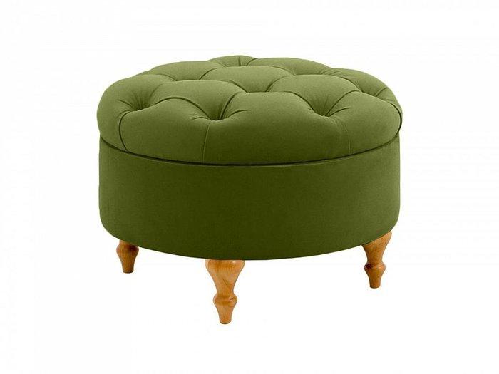 Пуф Meggi зеленого цвета с емкостью для хранения