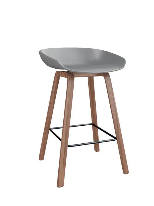 Барный стул Oleander Warm Grey серого цвета