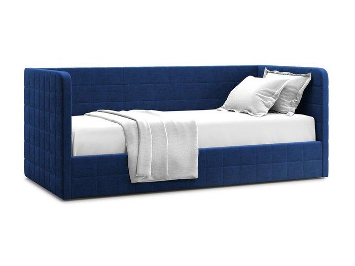Кровать с подъемным механизмом Brenta 90х200 синего цвета