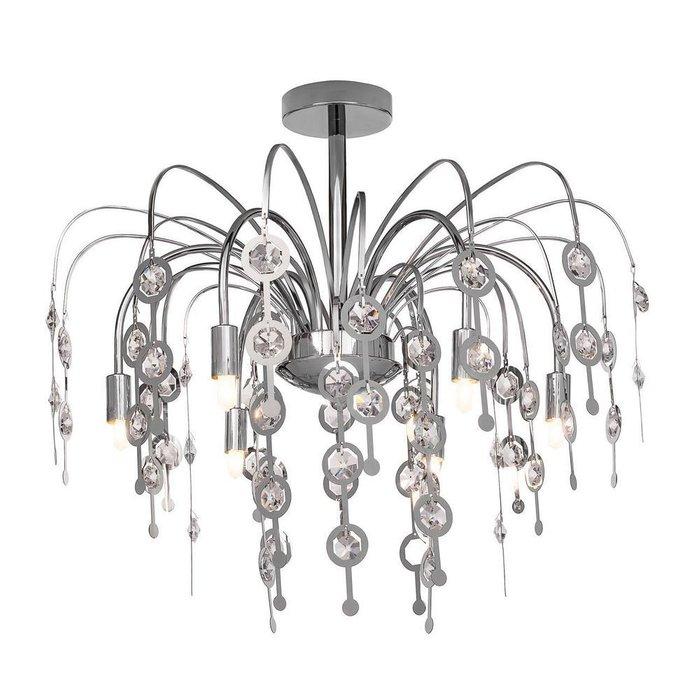 Потолочная люстра с декоративными хрустальными элементами SILVER LIGHT PRESTIGE