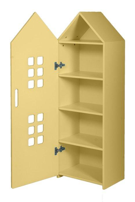 Стеллаж-домик City1 желтого цвета