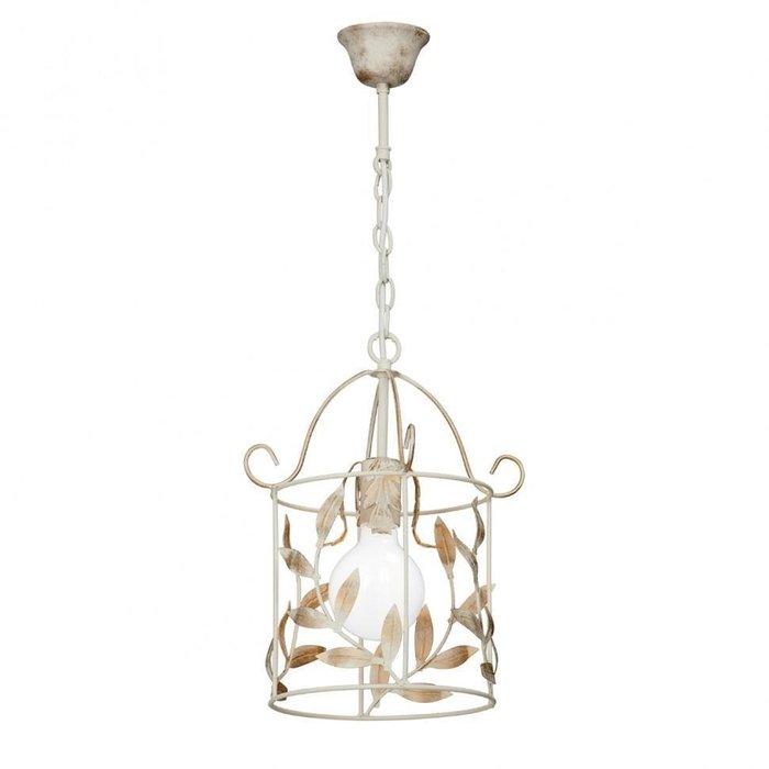 Подвесной светильник из металла бежевого цвета