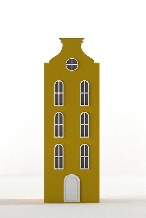 Шкаф-домик Брюссель Medium жёлтого цвета