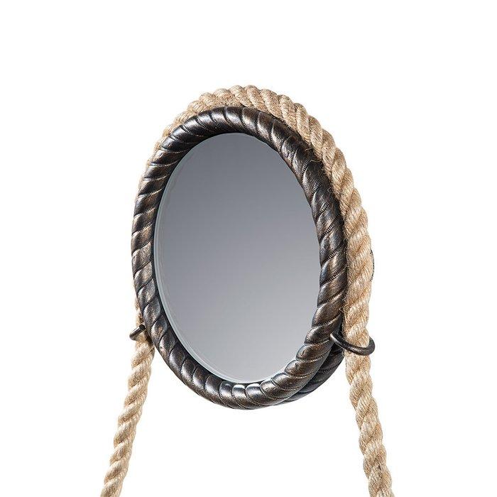 Зеркало настенное Лофт I с подвесом из каната