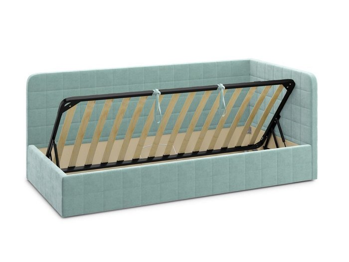 Кровать с подъемным механизмом Tichina 120х200 мятного цвета
