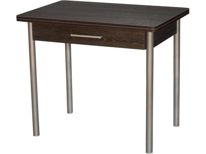 Стол раздвижной темно-коричневого цвета