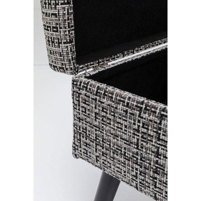 Пуф Suitcase серого цвета
