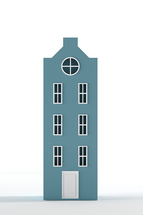 Шкаф-домик Вильнюс Medium голубого цвета