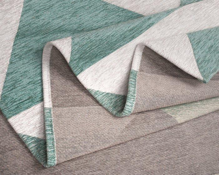 Ковер Line Willy серо-ментолового цвета 80х150