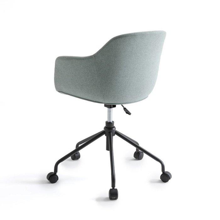 Кресло офисное вращающееся Nyjo серо-зеленого цвета
