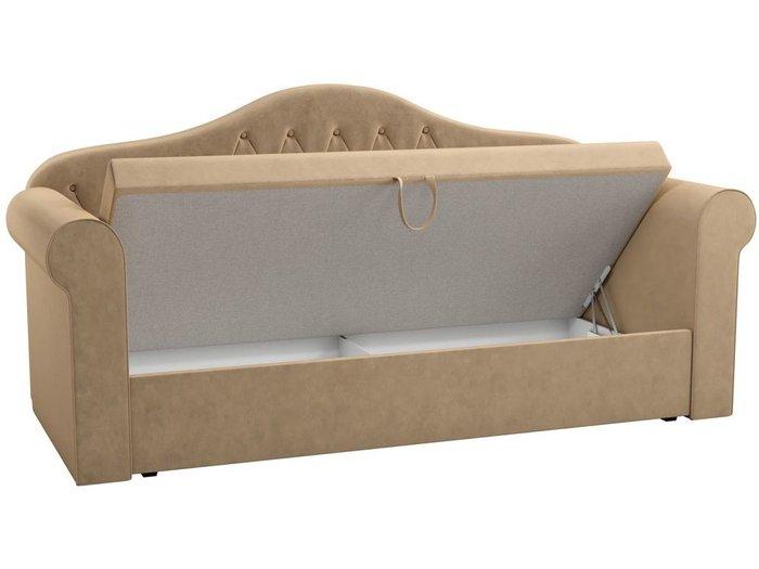 Детская кровать-тахта Делюкс 78х160 бежевого цвета