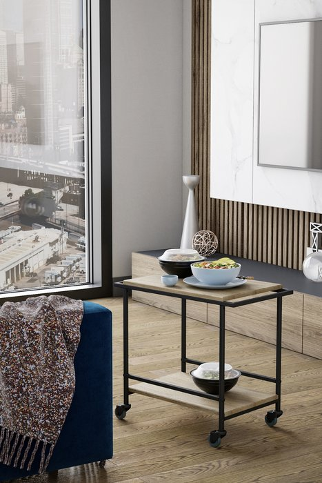 Кофейный столик Калифорния Фрэнки цвета дуб сонома