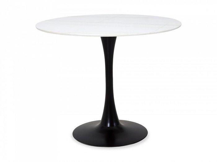 Обеденный стол Shot с белой столешницей