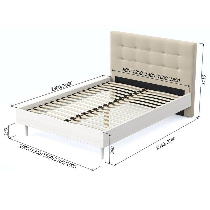 Кровать Альмена 140x200 светло-бежевого цвета