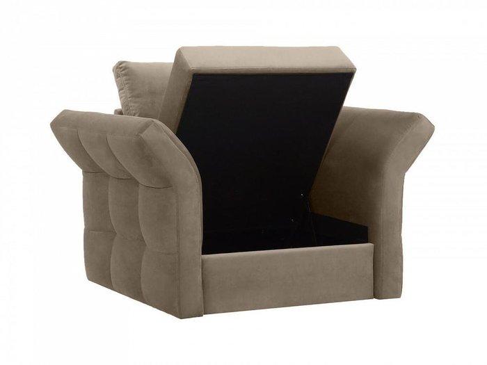 Кресло Wing серо-коричневого цвета