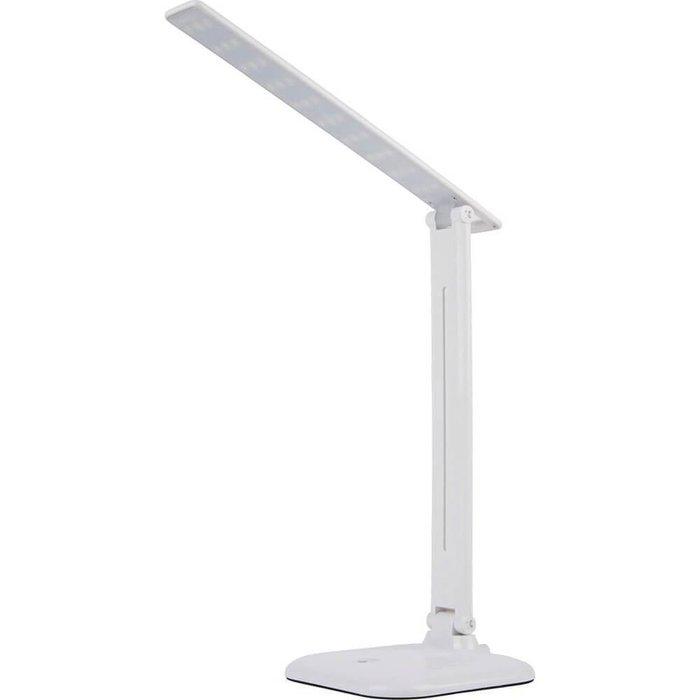 Настольный лампа из пластика белого цвета