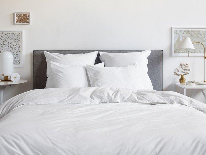 Комплект постельного белья белого цвета 150х215 (семейный)