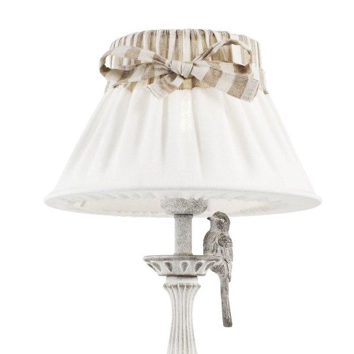 Настольная лампа Bird с льняным абажуром