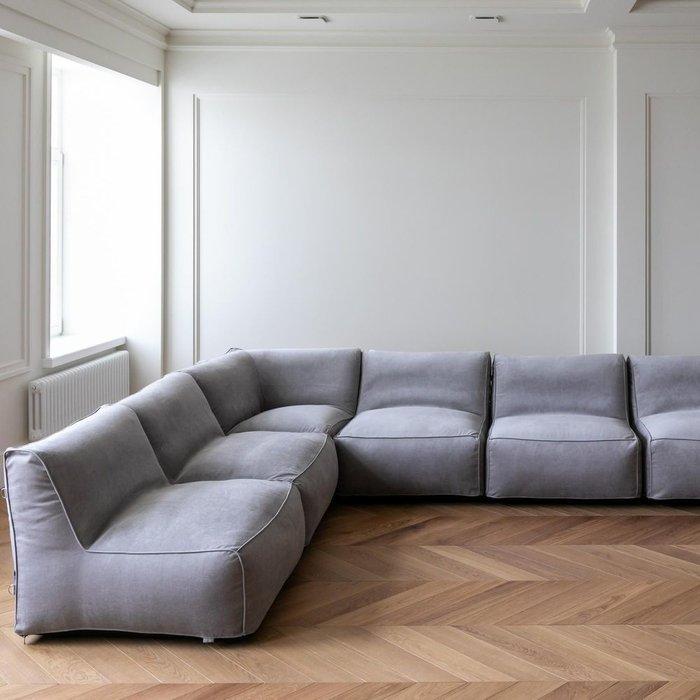 Модульный диван Xaviera Lite серого цвета