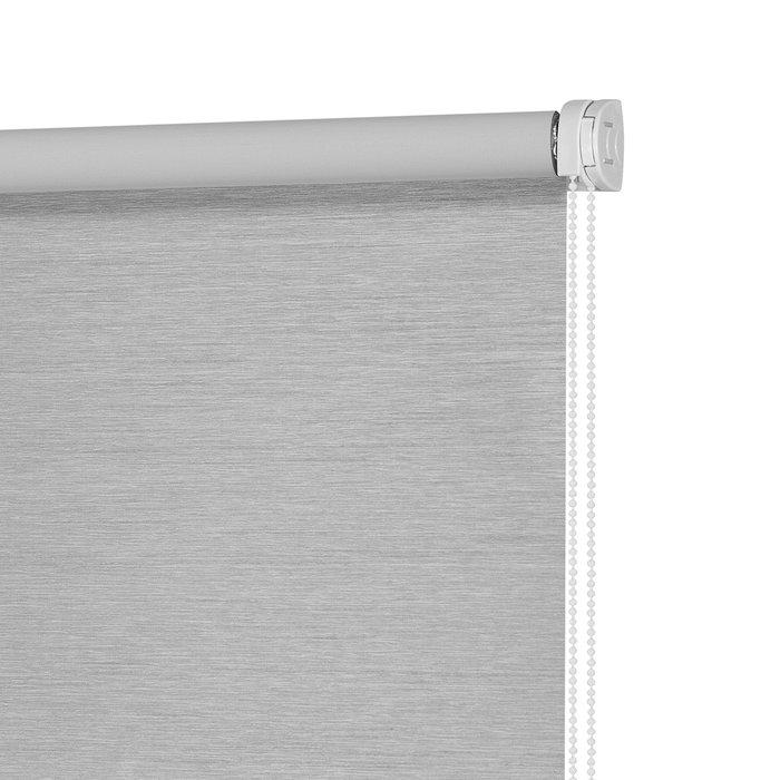 Штора рулонная Блэкаут Сатин серого цвета 160x175