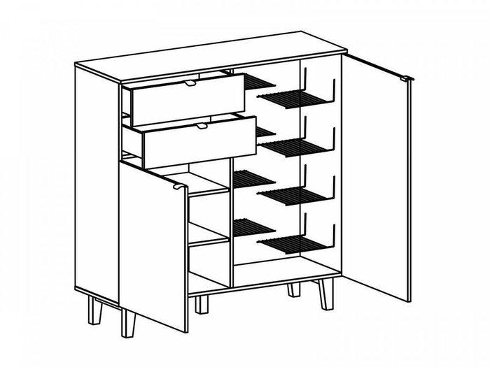 Тумба Lattice с ящиками и дверцами