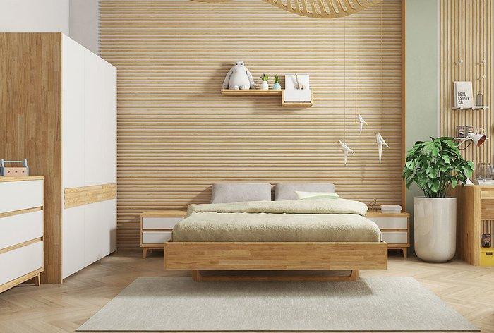 Кровать Wallstreet 160х200 светло-коричневого цвета
