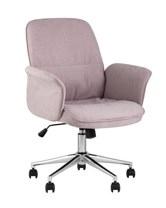 Стул офисный Simona розового цвета
