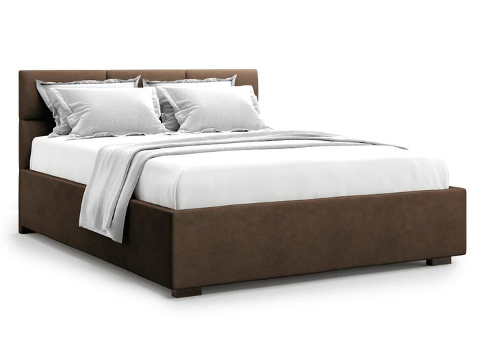 Кровать Bolsena 140х200 коричневого цвета с подъемным механизмом