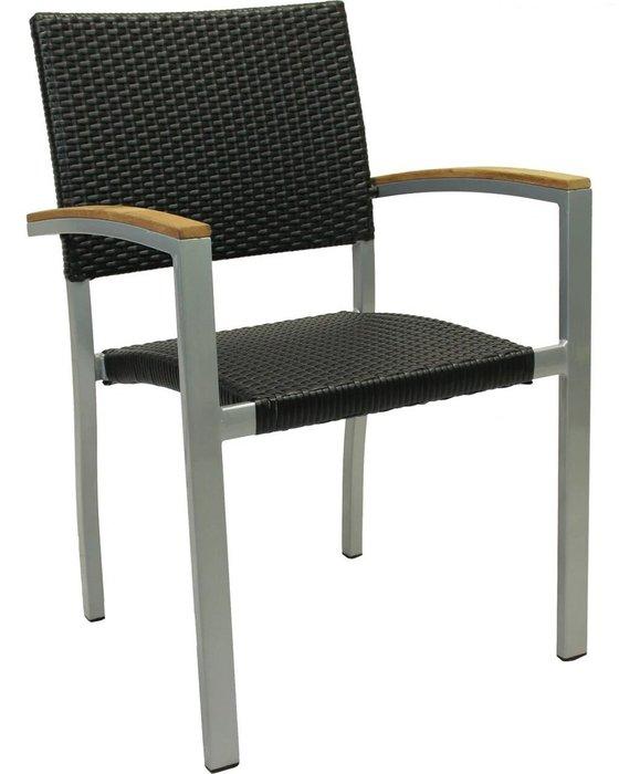 Кресло садовое Borneo черного цвета