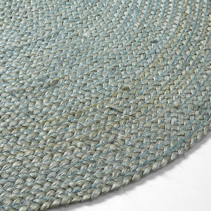 Ковер Julia Grup  DIP джутовый круглый синий 100 см