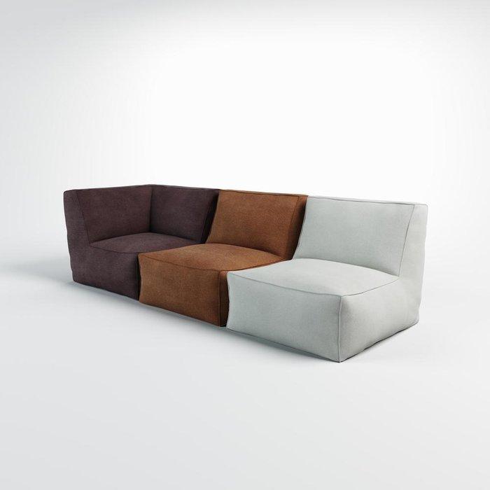 Кресло-Угол Quadro серого цвета