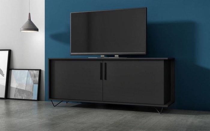 Тумба под ТВ Easy черного цвета
