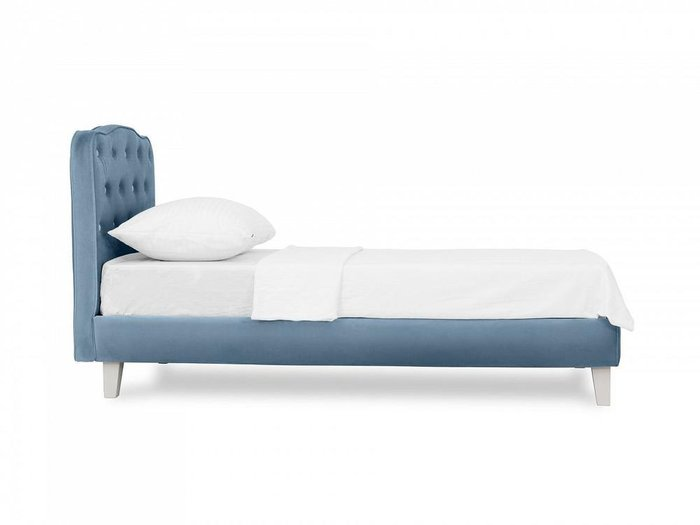Кровать Candy голубого цвета 80х160