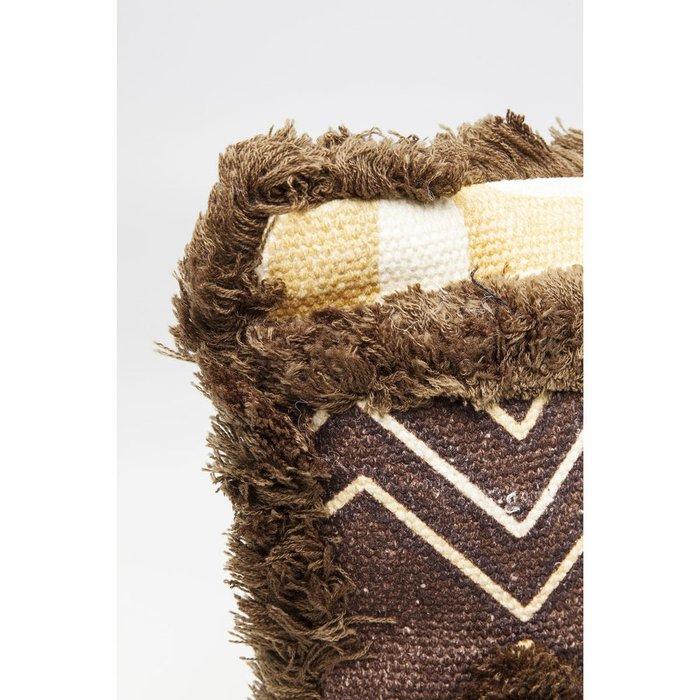 Подушка Wild Life бежево-коричневого цвета