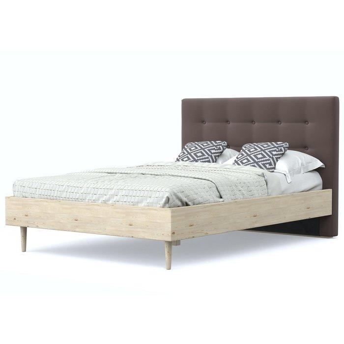 Кровать Альмена 120x200 бежево-коричневого цвета