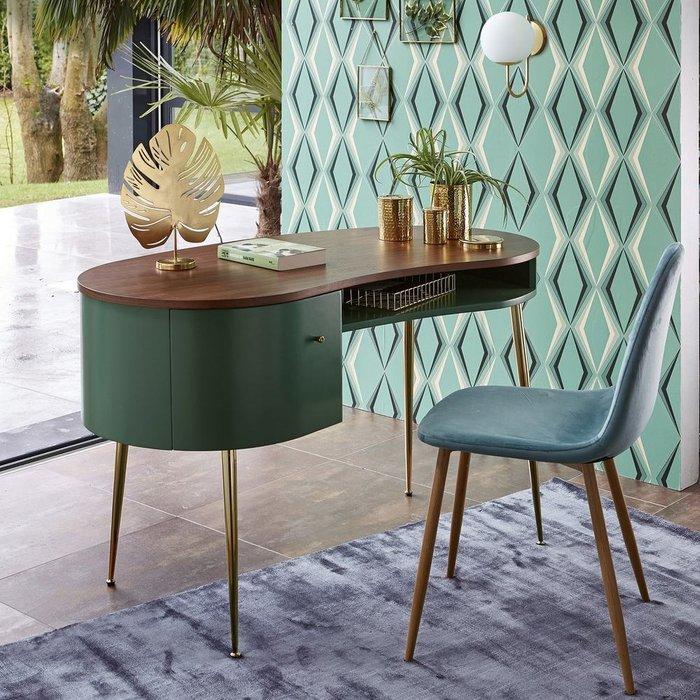 Письменный стол Topim в форме фасоли бордового цвета