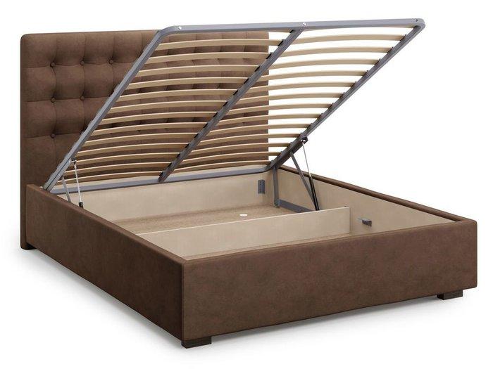 Кровать с подъемным механизмом Brayers 180х200 коричневого цвета