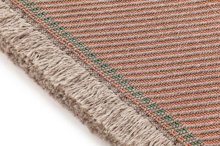 Большая подушка-рол Diagonal almond-peach розового цвета