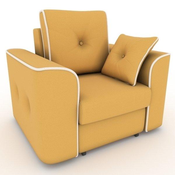 Кресло-кровать Navrik желтого цвета