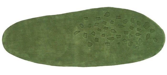 Ковер Earth зеленого цвета 60x170
