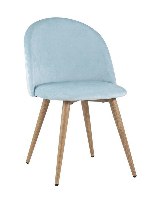 Стул Лион велюр пыльно-голубого цвета