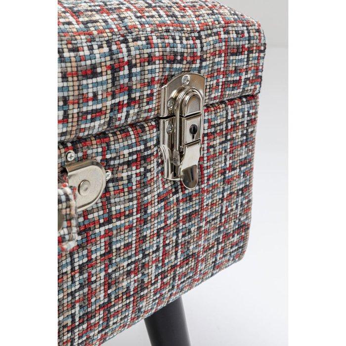 Пуф Suitcase красно-серого цвета