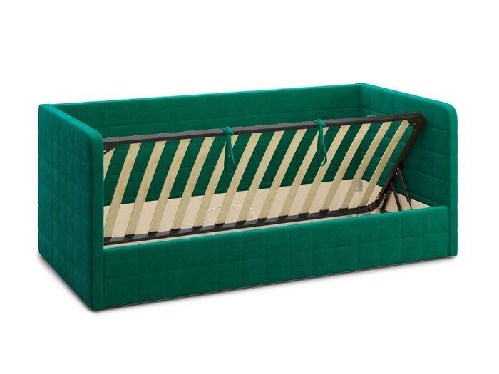 Кровать с подъемным механизмом Brenta 120х200 зеленого цвета