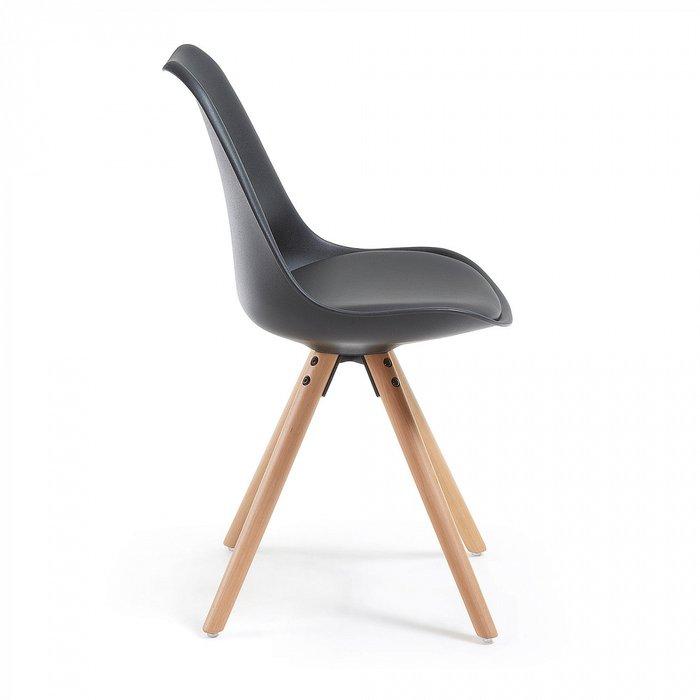 Набор из четырех стульев Lars черного цвета