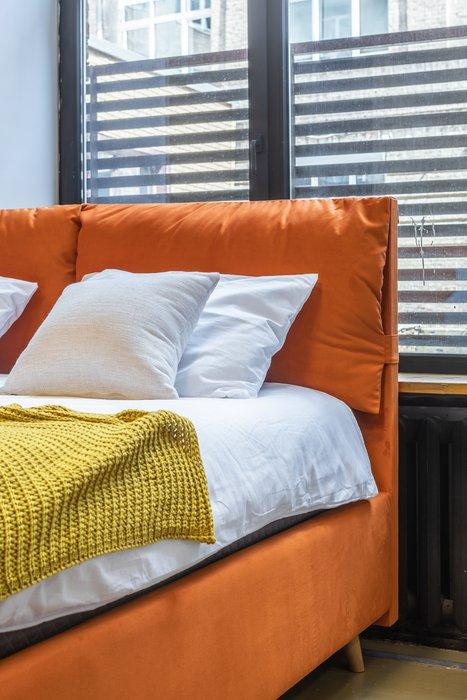 Кровать Trazimeno 160х200 серого цвета с подъемным механизмом
