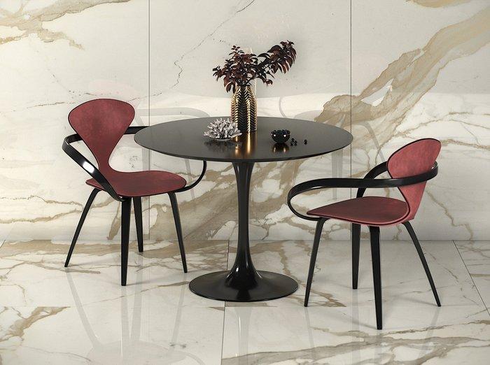 Обеденный стул Apriori N с обивкой из велюра бирюзового цвета