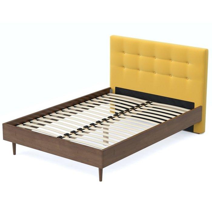 Кровать Альмена 120x200 коричнево-желтого цвета