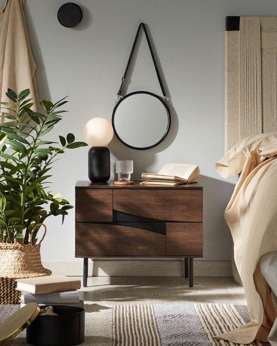 Настольная лампа Black Andina с круглым плафоном