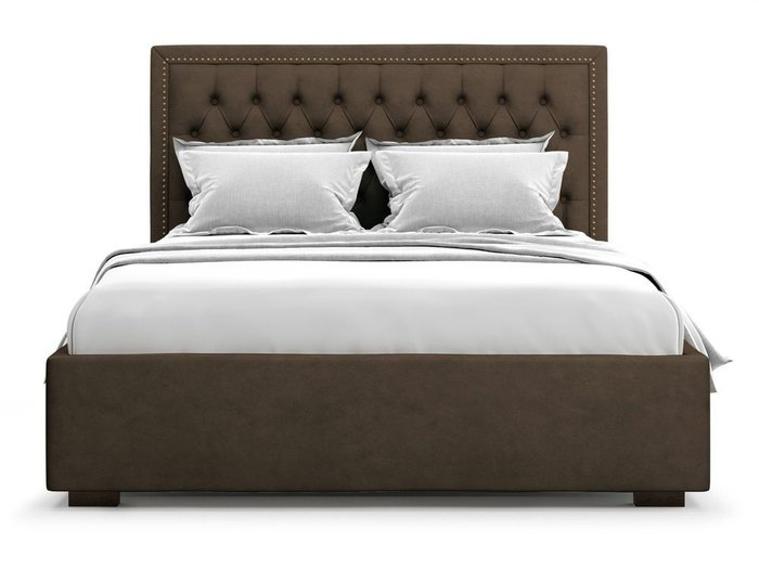 Кровать с подъемным механизмом Orto 180х200 коричневого цвета