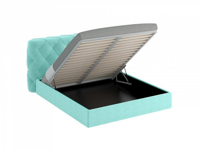Кровать Ember бирюзового цвета 160х200